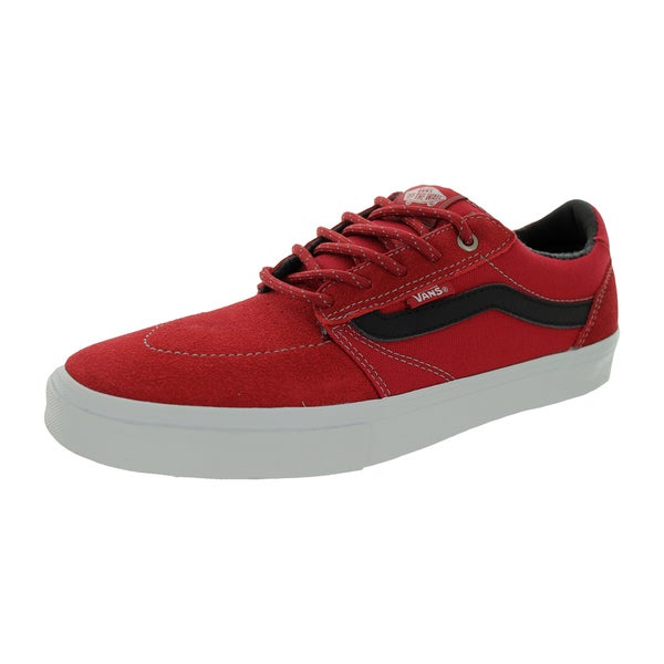 Vans Men's Lindero 2 Red Suede Skate Shoes