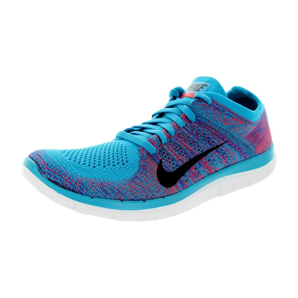 Nike Men's Free 4.0 Flyknit Blue Mesh Running Shoes
