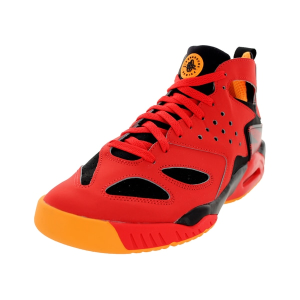 Nike Men's Air Tech Challenge Huarache Crimson/Black/Atomic Mango Leather Tennis Shoe