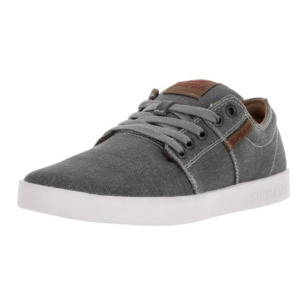 Supra Men's Stacks Grey/Spice/White Canvas Skate Shoe