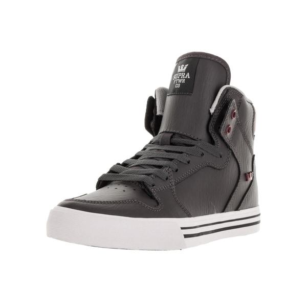 Supra Men's Vaider Charcoal Skate Shoes