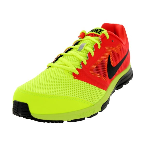 Nike Men's Zoom Fly Volt Yellow/Black/Light Crimson Running Shoe