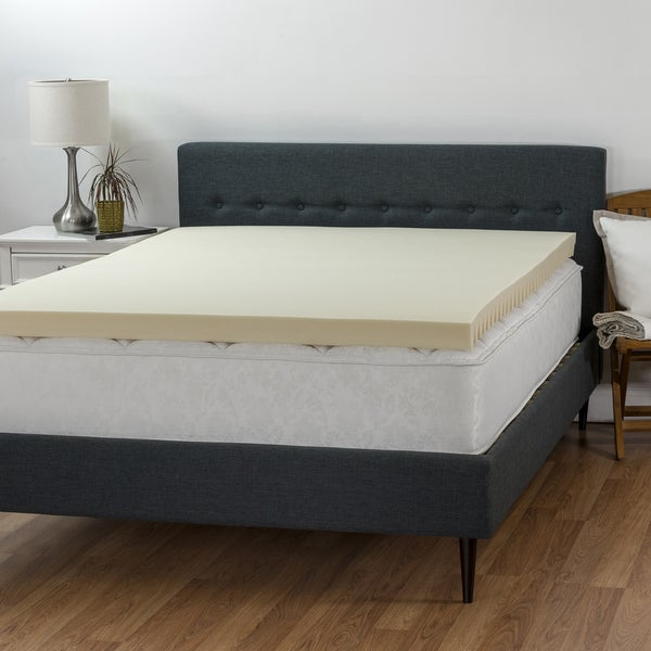 Select Luxury 3-inch Airflow Wave Memory Foam Mattress Topper