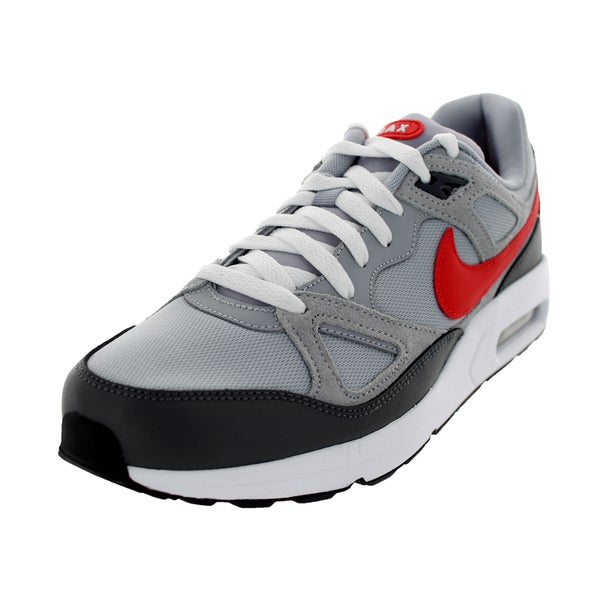 Nike Men's Air Max Span TXT Wolf Grey, Dark Grey and White Leather and Mesh Running Shoes