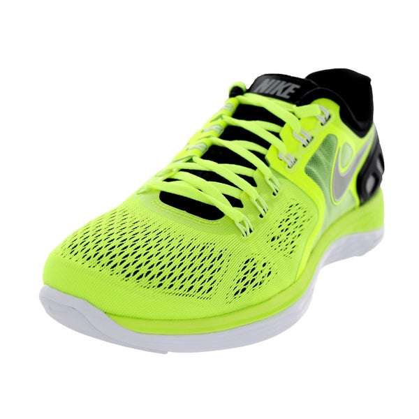 Nike Men's LunarEclipse 4 Volt Green/Silver/Black Running Shoes