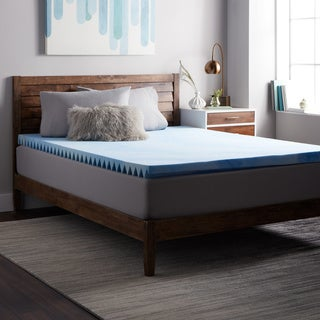 Select Luxury Airflow Wave 3-inch Gel Memory Foam Mattress Topper
