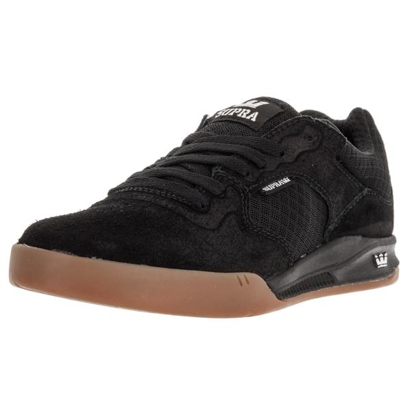 Supra Men's Avex Black/Gum Suede Skate Shoes
