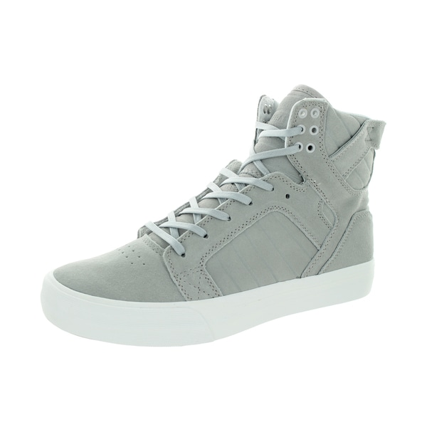 Supra Men's Skytop HF Light Grey/Off White Suede Skate Shoes