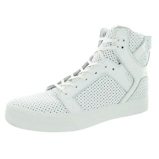 Supra Men's Skytop White Leather Skate Shoe