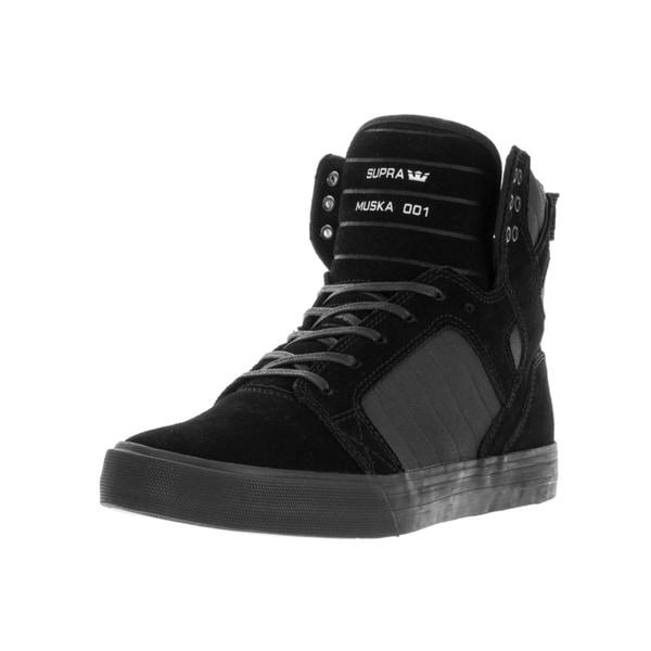 Supra Men's Skytop Black Suede Skate Shoes