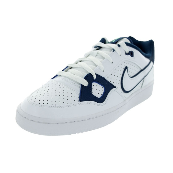 Nike Men's Son Of Force White/White/Black/Green Glow Basketball Shoe