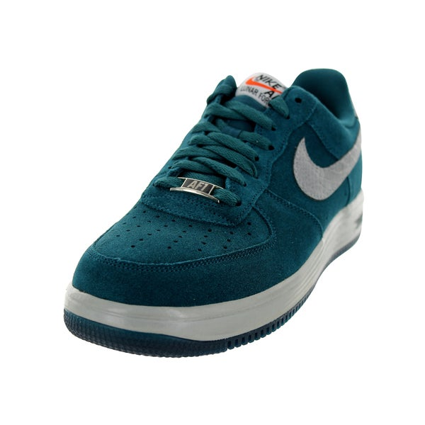 Nike Men's Lunar Force 1 Reflect Dark Sea and Reflect Silver Basketball Shoes
