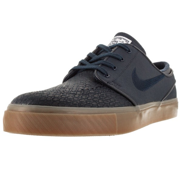 Nike Men's Zoom Stefan Janoski Blue Leather Skate Shoe