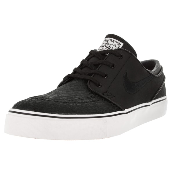 Nike Men's Zoom Stefan Janoski Black and White Leather Skate Shoes