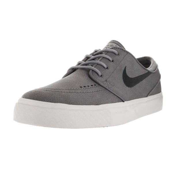 Nike Men's Zoom Stefan Janoski L Cool Grey/Anthracite/Light Bone Leather Skate Shoes