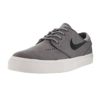 Nike Men's Zoom Stefan Janoski L Cool Grey/Anthracite/Light Bone Leather Skate Shoes