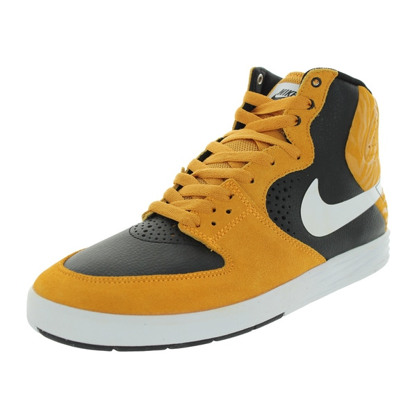 Nike Men's Paul Rodriguez 7 High Laser Orange Suede Skate Shoes