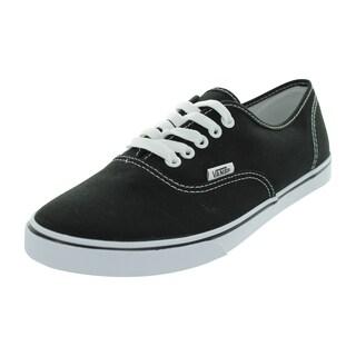Vans Authentic Lo Pro Black Canvas Skate Shoes