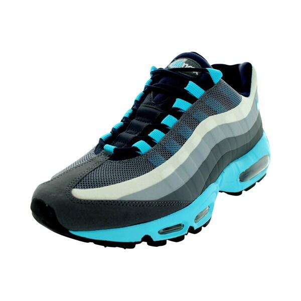 Nike Men's Air Max 95 No Sew Dark Grey/Gmm Black/Obsidian/Cl Grey Running Shoe