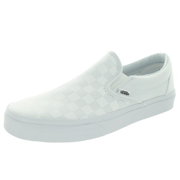 Vans Unisex Classic Slip-on Checkboard White Canvas Skate Shoe