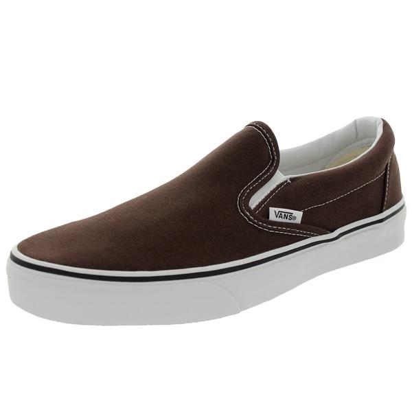 Vans Unisex Classic Slip-On Brown Canvas Skate Shoes