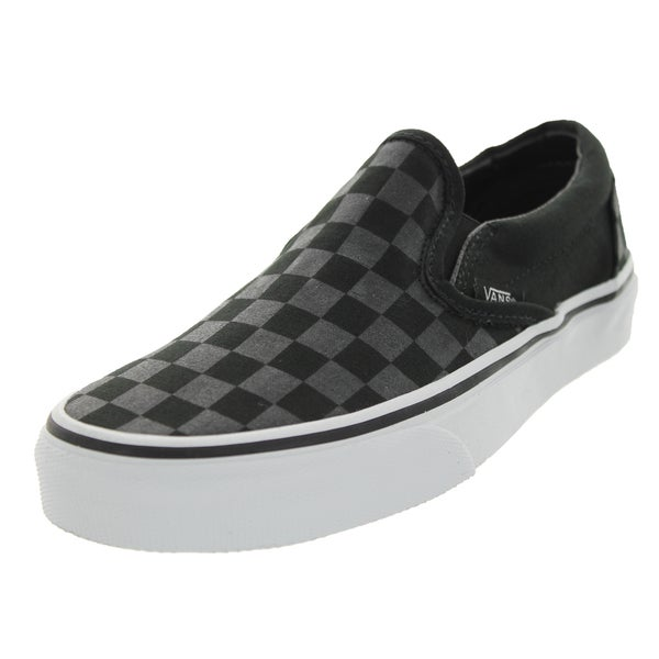 Vans Unisex Classic Slip-on Checkerboard Black Canvas Skate Shoe