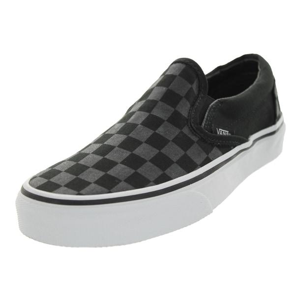 Vans Unisex Classic Slip-on Checkerboard Black Canvas Skate Shoe