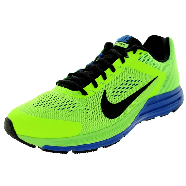 Nike Men's Zoom Structure+ 17 Electric Green/Black/Hyper Cblt Running Shoe