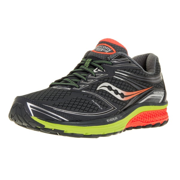 Saucony Men's Guide 9 Grey/Orange Mesh Running Shoe