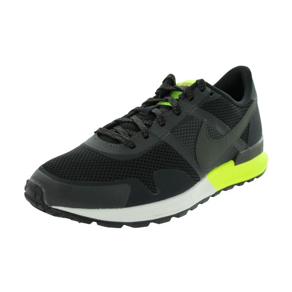 Nike Men's Air Pegasus 83/30 Black/Newsprint/Volt/Sail Mesh Running Shoe
