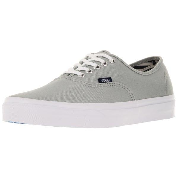 Vans Unisex Authentic Grey Canvas Skate Shoes