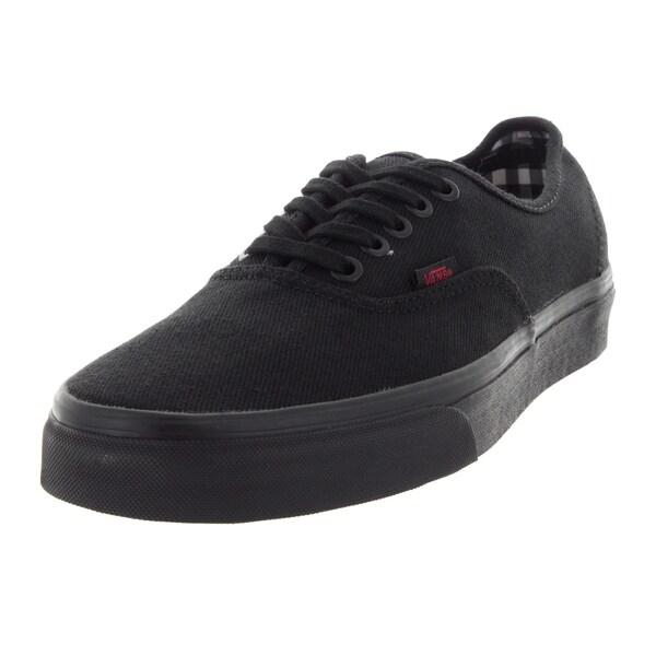 Vans Unisex Authentic Black Canvas Skate Shoes