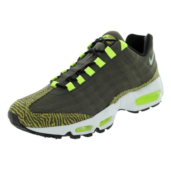 Nike Men's Air Max 95 Prm Tape Newsprint/Dusty Grey/Black/Vlt Running Shoe