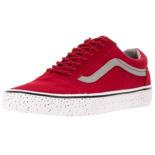 Vans Men's Old Skool Red Textile Skate Shoes