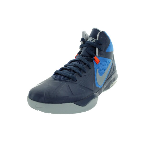 Nike Men's Air Max Body U Mid-height Navy/Wolf Grey/Orange Basketball Shoe