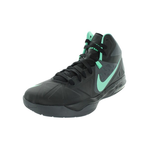 Nike Men's Air Max Body U Black/Green Glow/Dark Grey Basketball Shoe