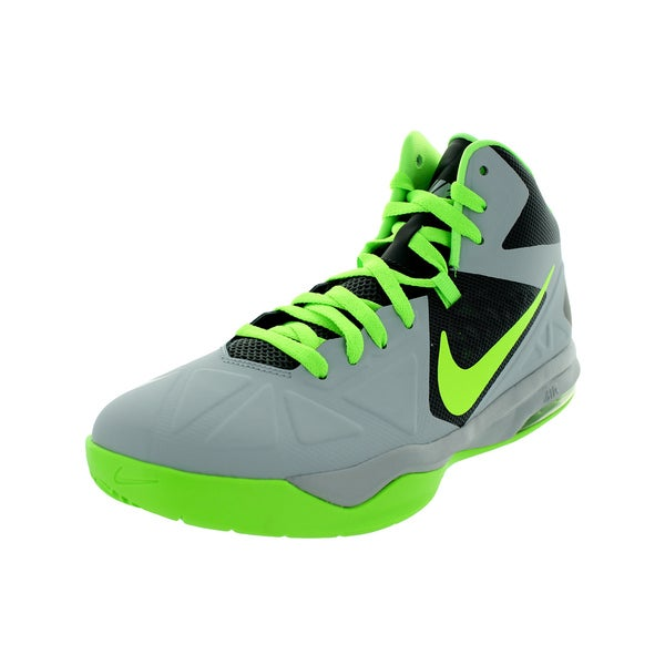 Nike Men's Air Max Body U Wolf Grey/Flash Lime/Dark Grey Basketball Shoes