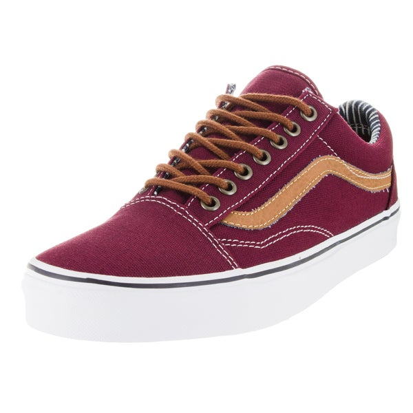 Vans Men's Old Skool Red Canvas Skate Shoes
