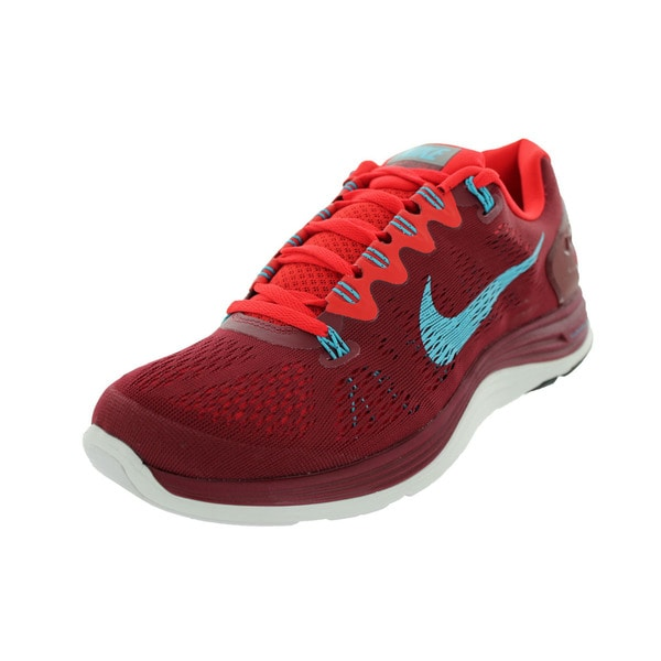 Nike Men's Lunarglide+ 5 Grimm Black/Chilling Red Running Shoes