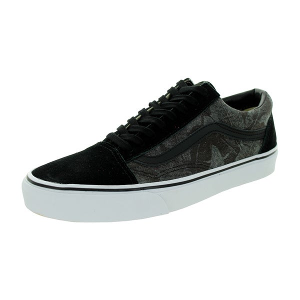 Vans Unisex Old Skool Chambrey Leaves Black Suede Skate Shoe