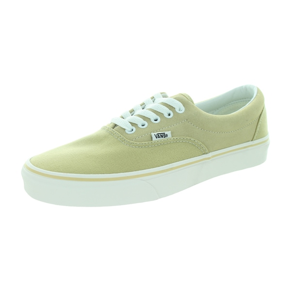 Vans Unisex Era Beige Canvas and Suede Skate Shoe