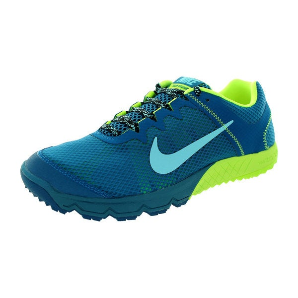 Nike Men's Zoom Wildhorse Green/Abyss/Blue/Black Mesh Running Shoe