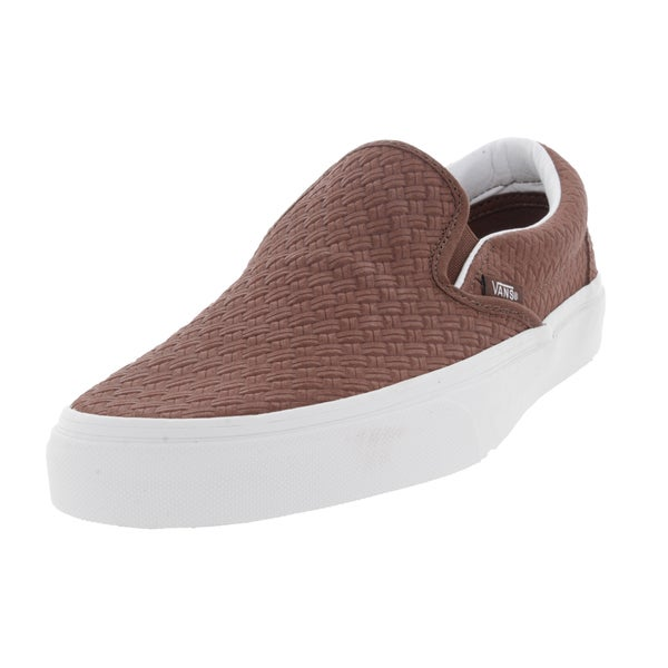 Vans Unisex Classic Slip-On Brown Suede Skate Shoes
