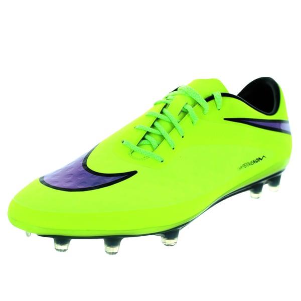 Nike Men's Hypervenom Phatal FG Volt/Persian Violet/Black Synthetic/Leather Soccer Cleat 19429388