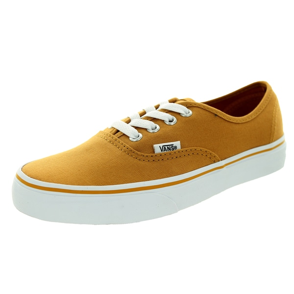 Vans Unisex Authentic Yellow Canvas Skate Shoes