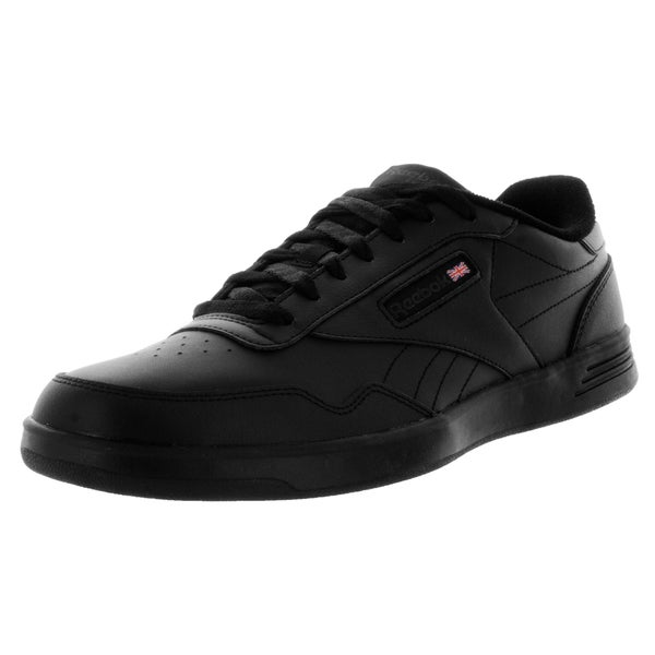 Reebok Men's Club MEMT Wide 4E Black/Dark Heather/Solid Grey Leather Casual Shoes