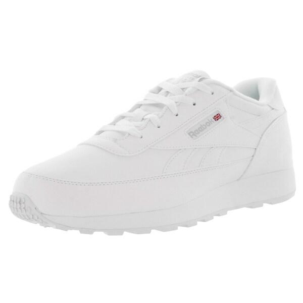 Reebok Men's Classic Renaissance Wide 4E White/Steel Leather Classics Shoe