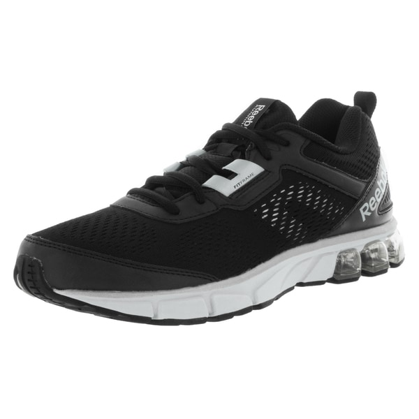 Reebok Men's Jet Dashride Black-over-white Mesh Running Shoe
