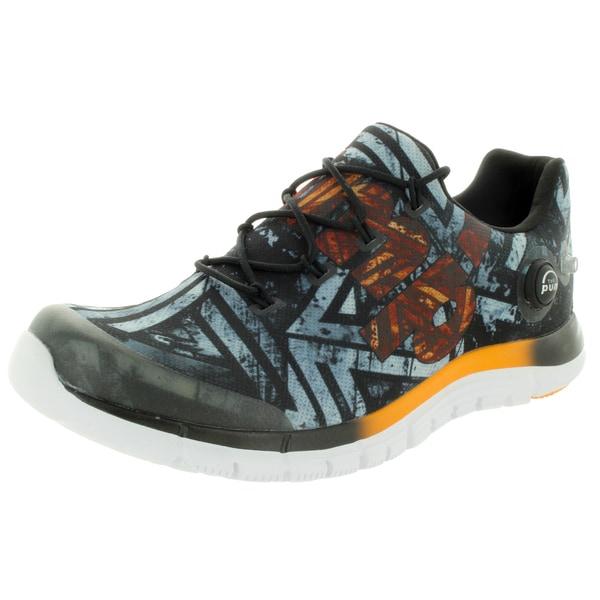 Reebok Men's Zpump Fusion Geo Black/Orange/White Running Shoes 19429607