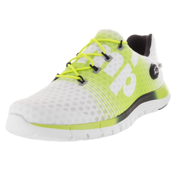 Reebok Men's ZPump Fusion White/Yellow/Black Mesh Running Shoe